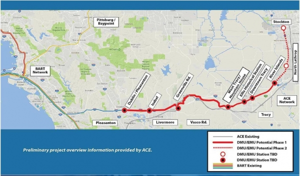 Regional authority supports light rail connecting Pleasanton and San ...